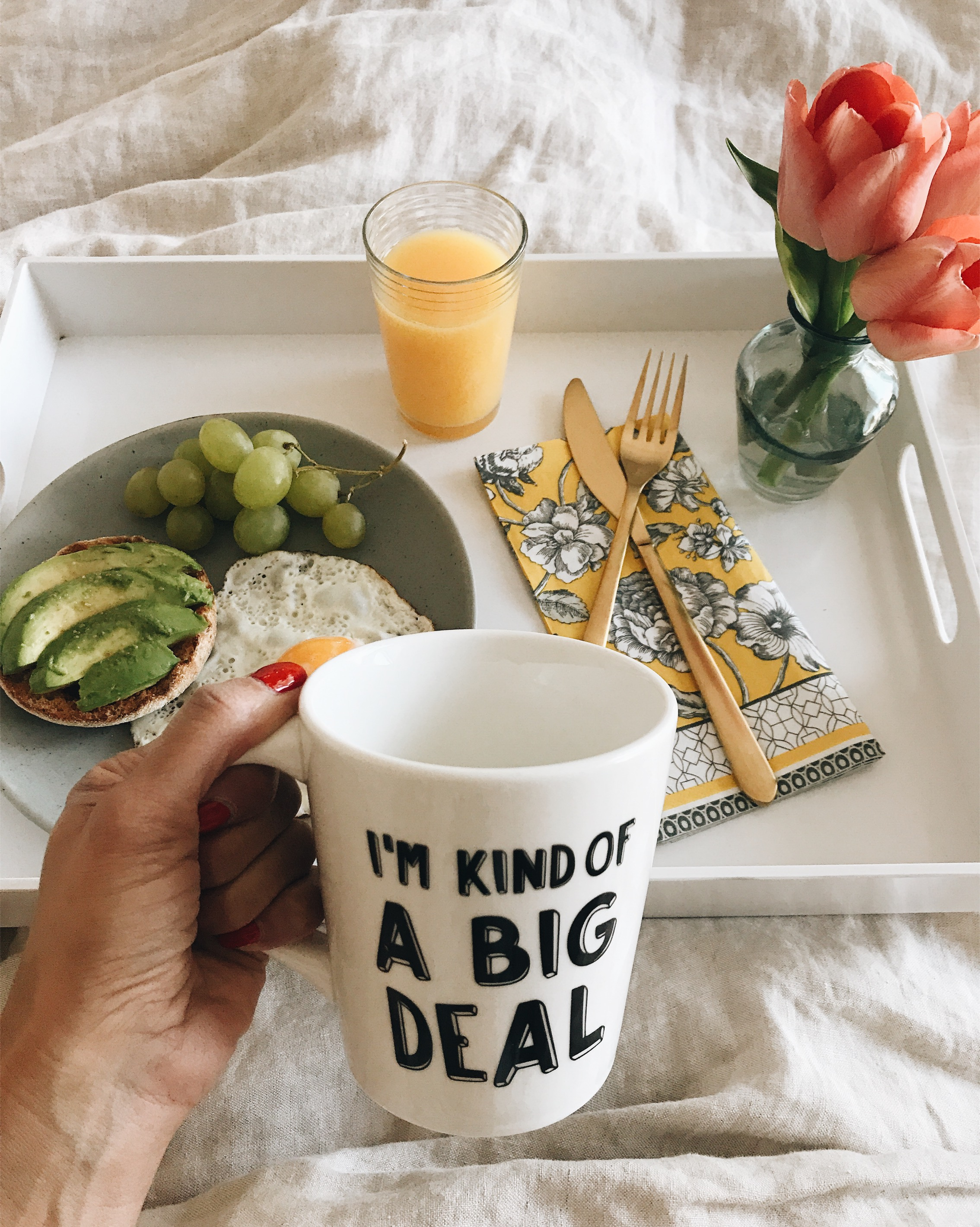 3 Ways to Spoil Your Mom At Home On Mother's Day, Breakfast In Bed, Nyla Free Designs Inc., Calgary Interior Designer