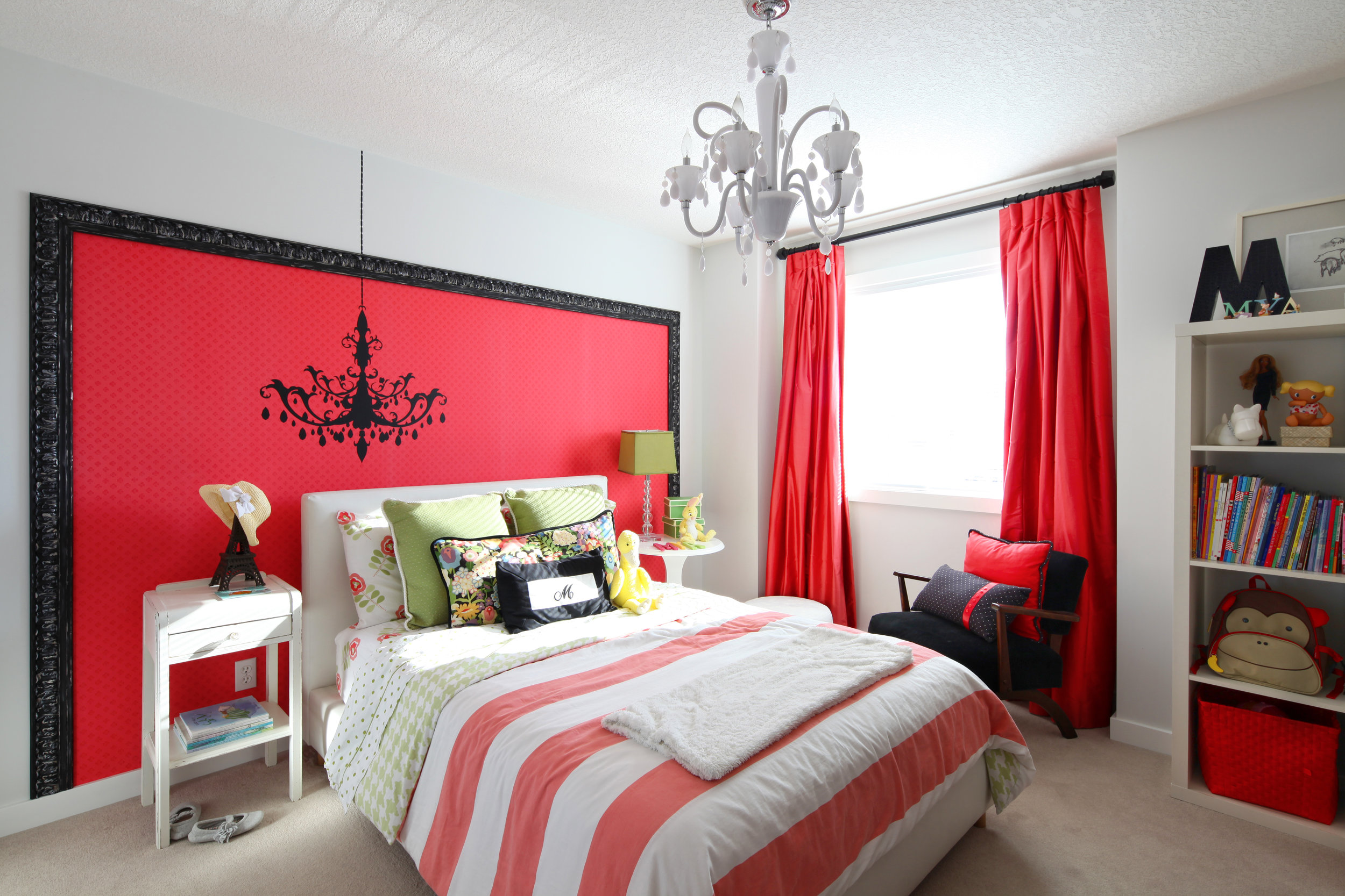 Before and After Tween Girls Bedroom Makeover, Calgary Interior Designer, Nyla Free Designs, Lori Andrews Photography