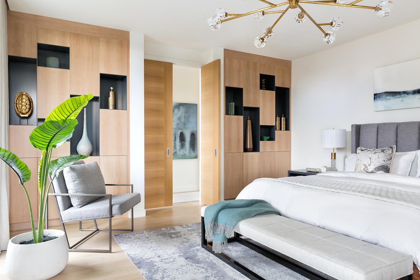 Elbow Park Modern, Master Bedroom, Calgary Interior Designer, Nyla Free Designs, DeJong Design Associates, Insignia Custom Builder, Phil Crozier Photography