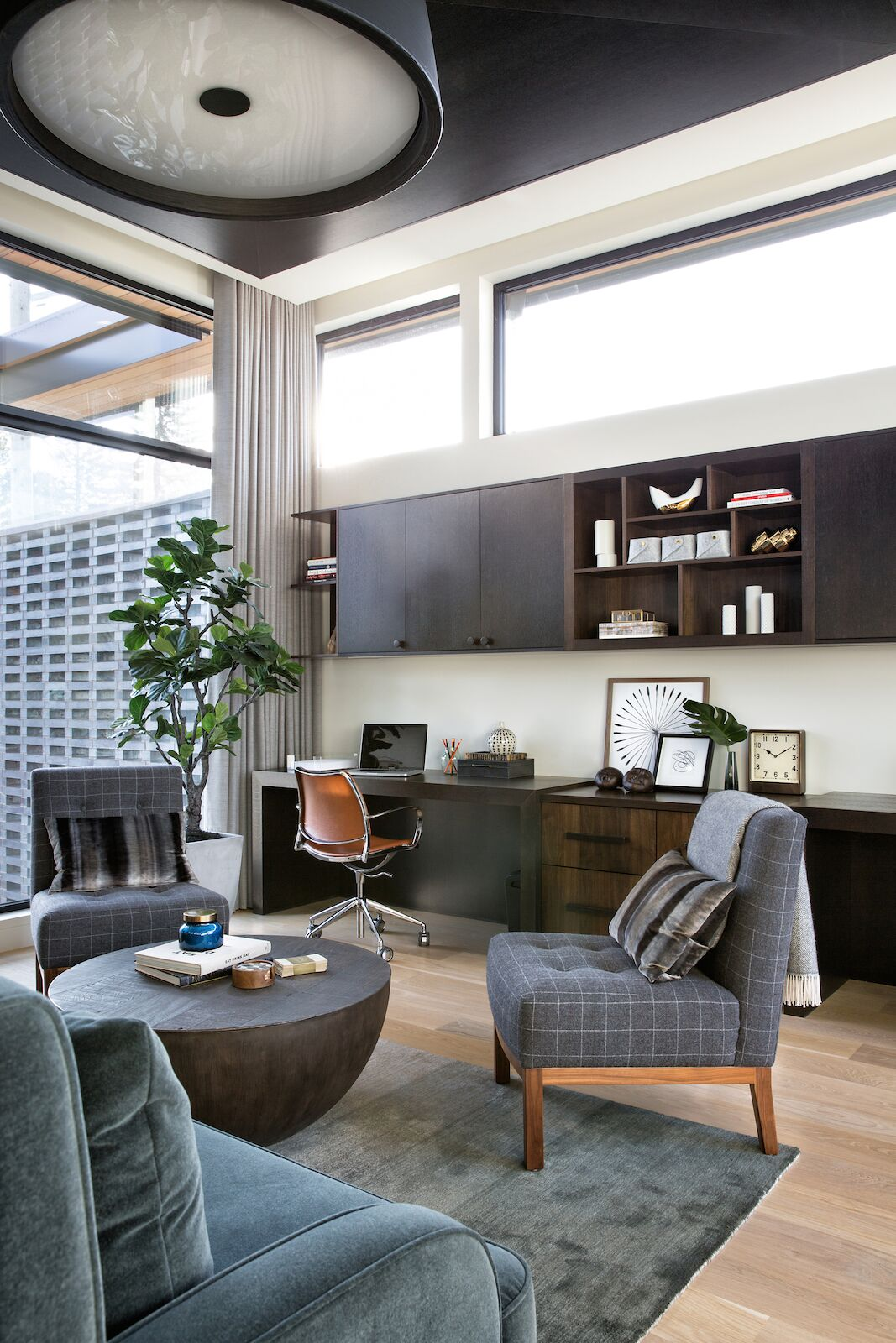 Nyla Free Designs, elbow park modern, Top office design details.