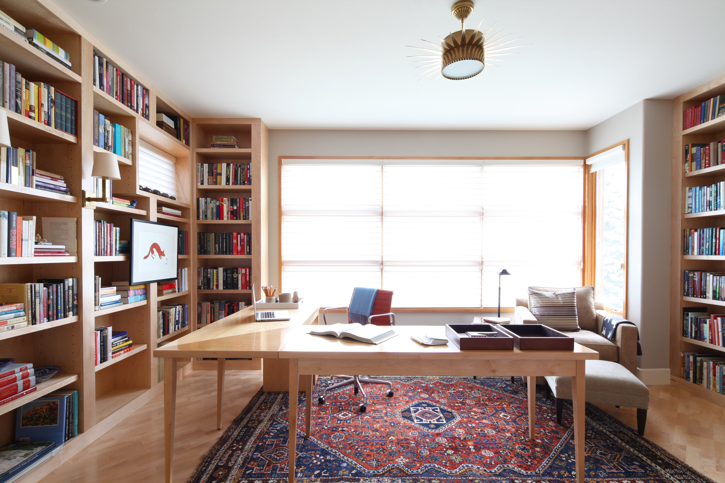 Nyla Free Designs, lakeview,  Top office design details.
