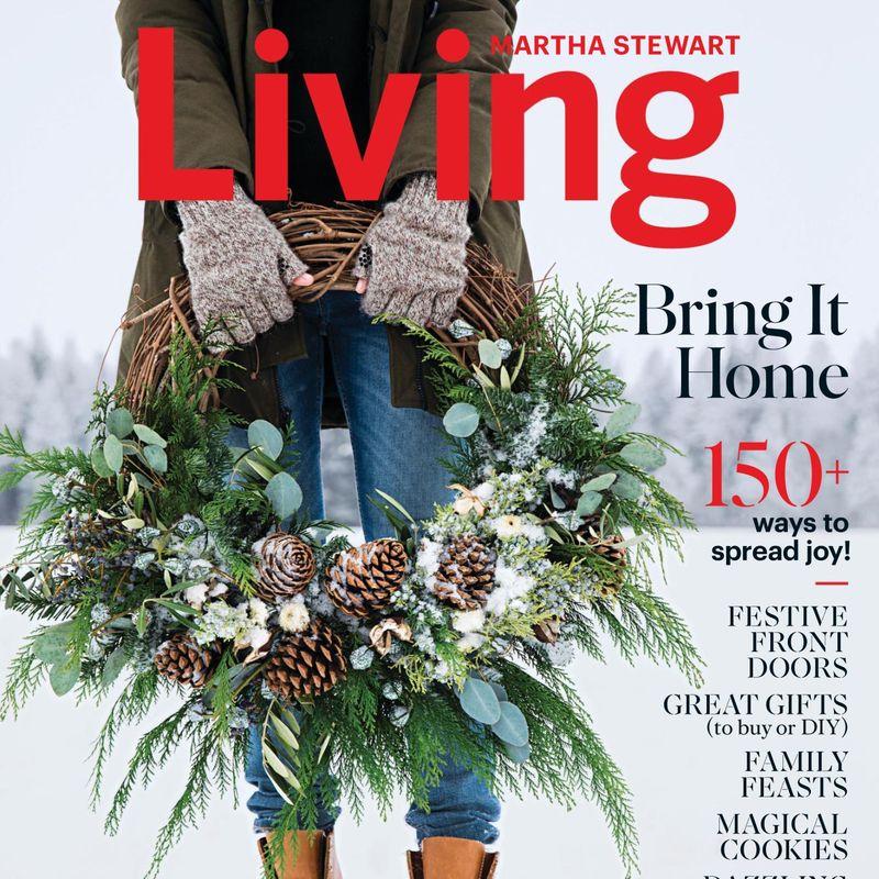 Martha Stewart Wreath, Nyla Free Designs, Inspiration, Christmas 2018