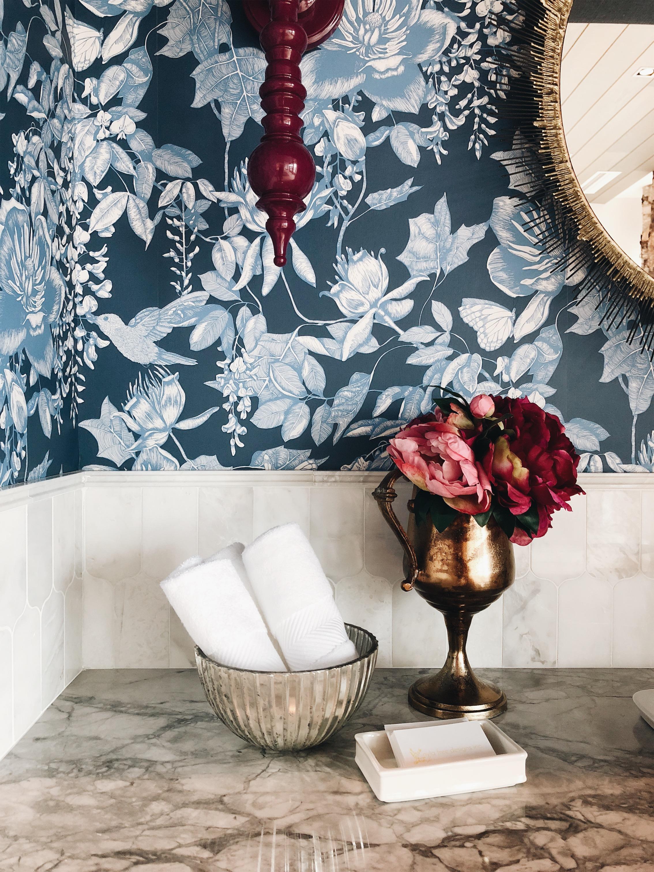 Divine Reveal 2018, Traditional Powder Room Design by Calgary Interior Design Studio, Nyla Free Designs