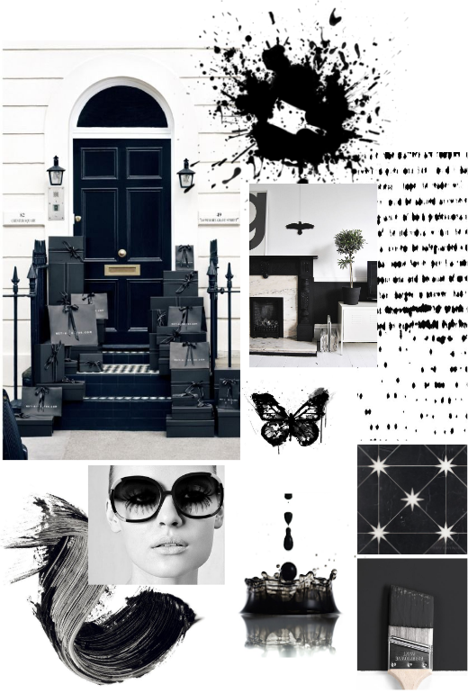 Black and White Inspiration, Benjamin Moore Jet Black, Calgary Interior Designer, Nyla Free Designs
