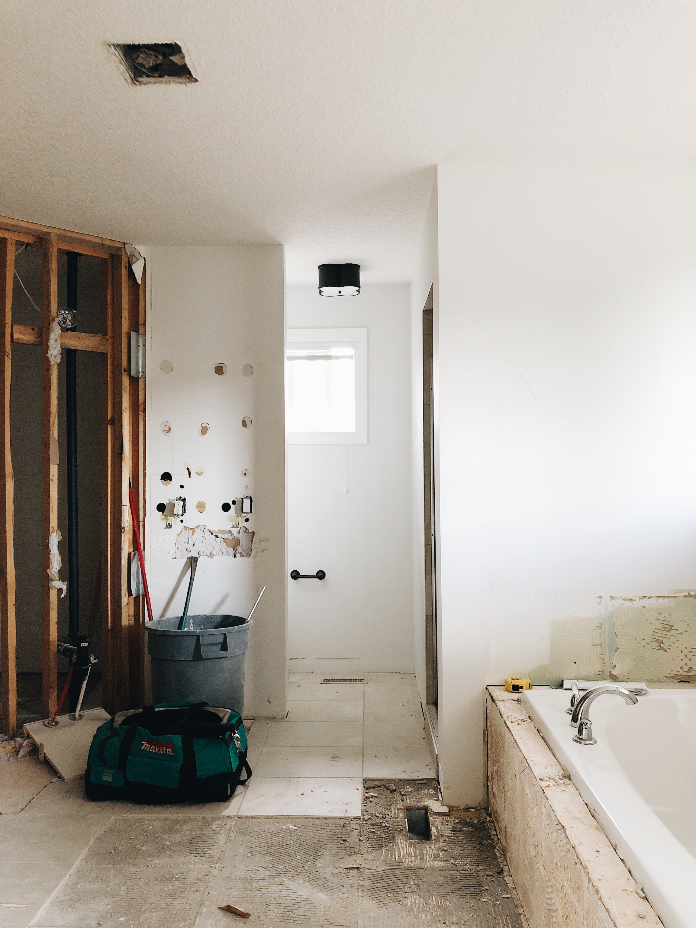 Our ensuite is in full swing renovation mode. So excited!