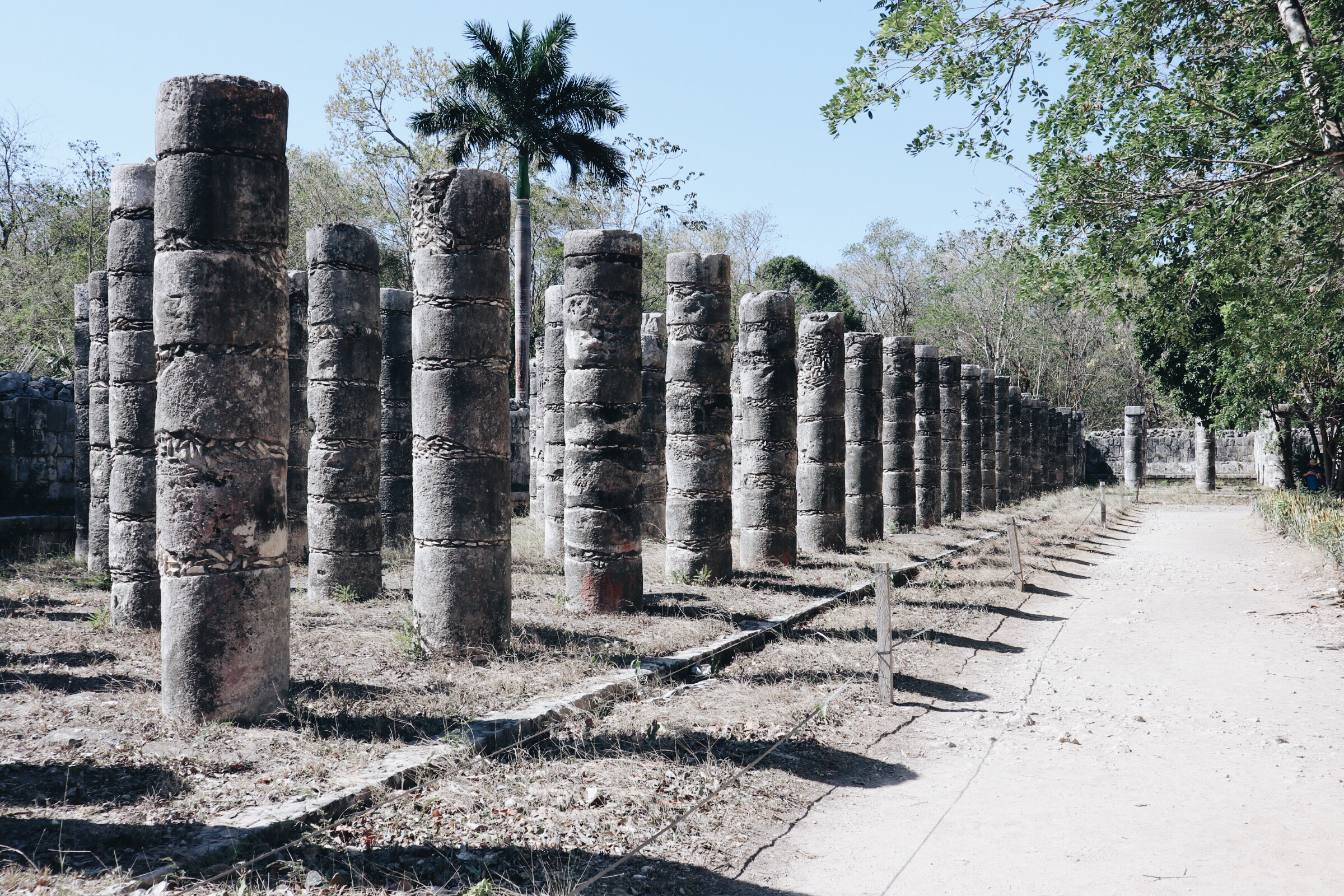 A getaway to Tulum, Mexico, included a visit to Chichen Itza. I was fascinated by the perfection of these columns.