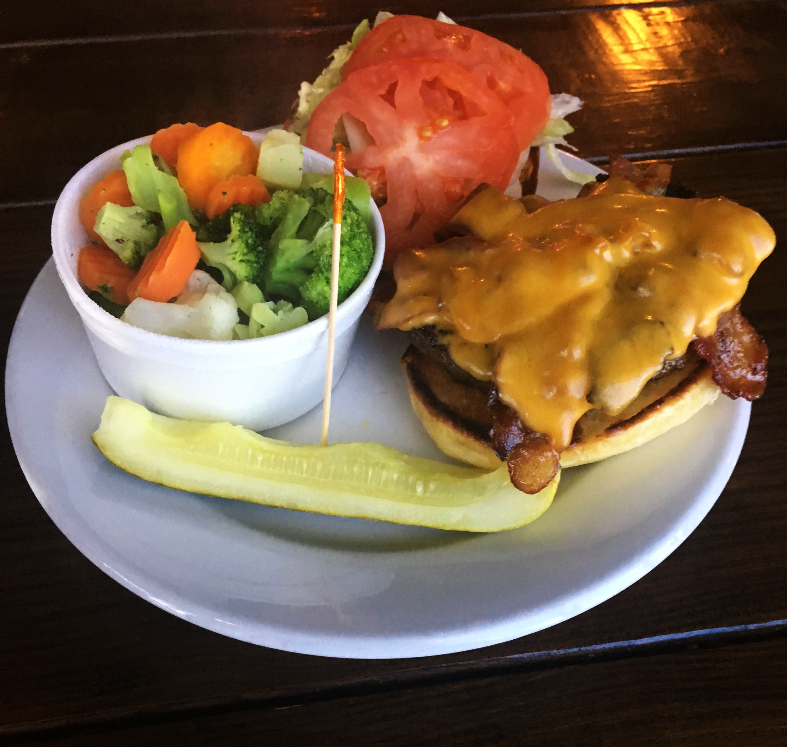 Bacon Cheese Fatty & Veggies