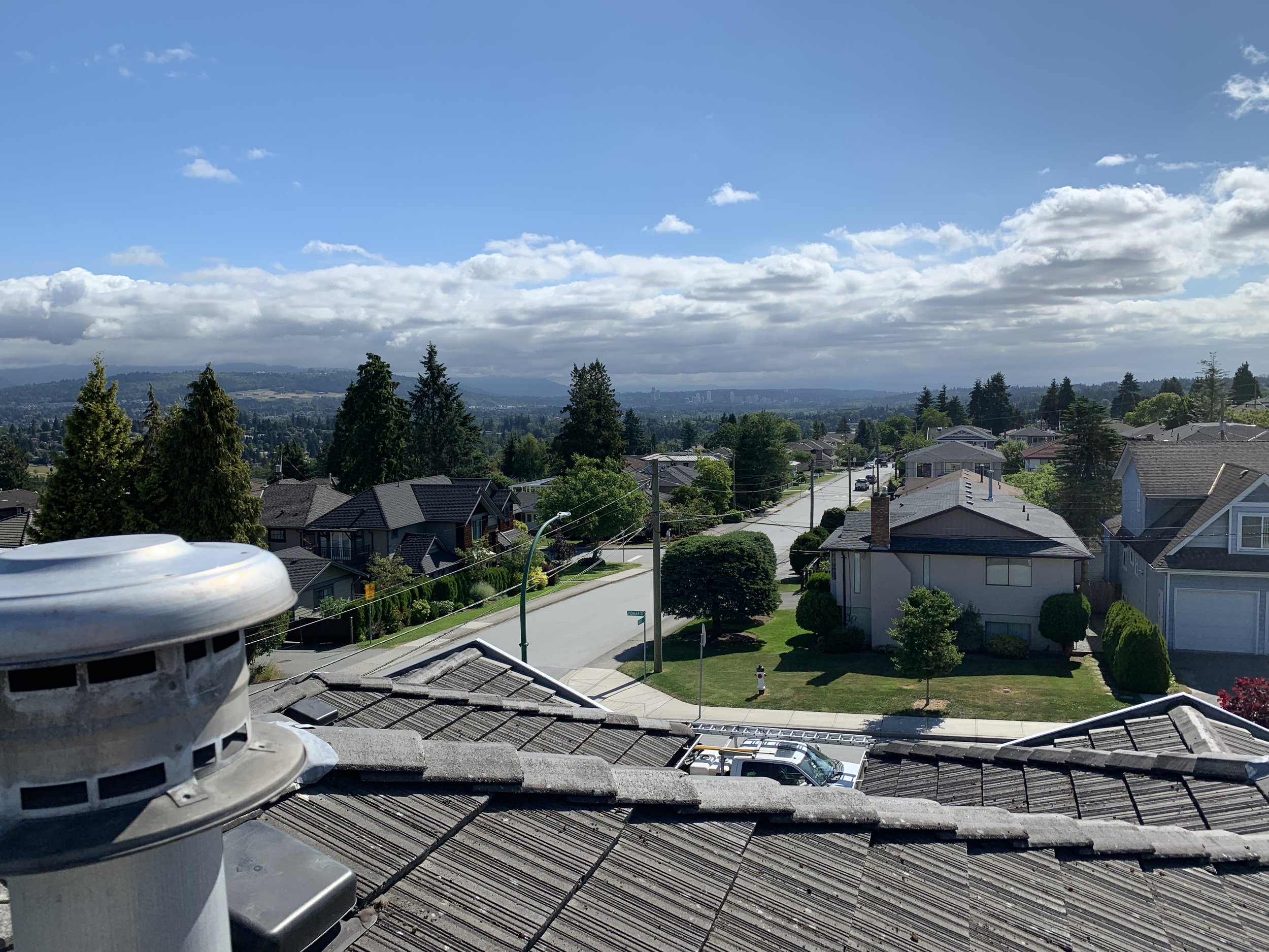 Cleaning the roofs of Burnaby