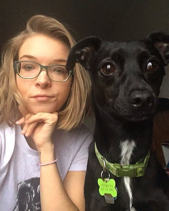 """I met thumper in 2016 and found him through a rescue based in Fon du Lac Wisconsin called @sandipawsrescuewi !! I was living by myself for the summer and didn't want to be alone! Thumper was perfect because he loves sitting on laps and snuggling!! I know Thumper was the perfect dog for me because he usually is very shy around new people but with me he ran right to me to say hello! Almost as if he knew he was going home and found his familiy! - @itsmeashley32 #ChateauStories .  Have an amazing love story with your pooch? Follow and shoot us a DM for a chance to be featured. These stories are in celebration of our first Annual Doggie Date Night on Valentine's day. Make sure to let us know if you're coming (reservations encouraged)! . . #astoriaqueens #puppylove🐶 #lovestories #valentinesday #valendogsday"