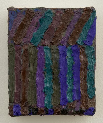 """night studio , 2013-2015 oil on canvas 5 x 4"""""""