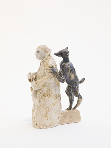 "Judas (after Giotto) , 2015 glazed porcelain 5 1/2 x 4 x 3"""