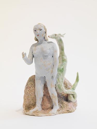 """Shoulder Demon (after Giotto) , 2015 glazed porcelain 5 1/4 x 4 x 3"""""""