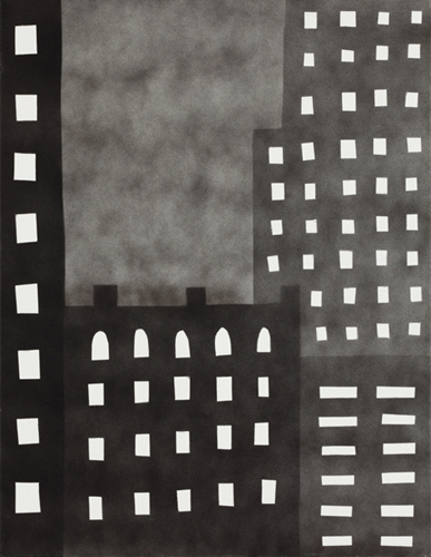 new york 76 , 2014 spray paint on canvas 18 x 14 inches