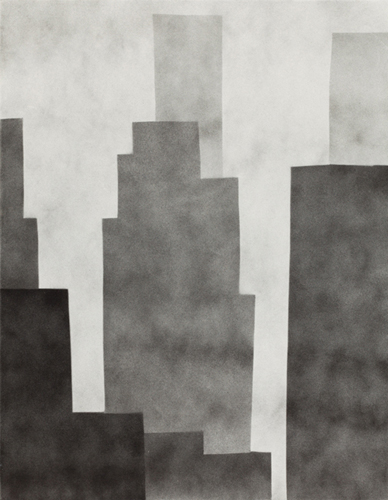 new york 74 , 2014 spray paint on canvas 18 x 14 inches