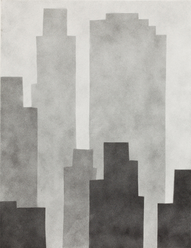 new york 75 , 2014 spray paint on canvas 18 x 14 inches
