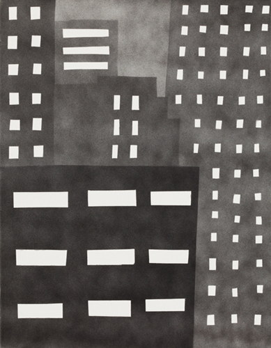 new york 73 , 2014 spray paint on canvas 18 x 14 inches