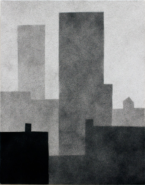 new york #66 , 2012 spray paint on canvas 14 x 11 inches