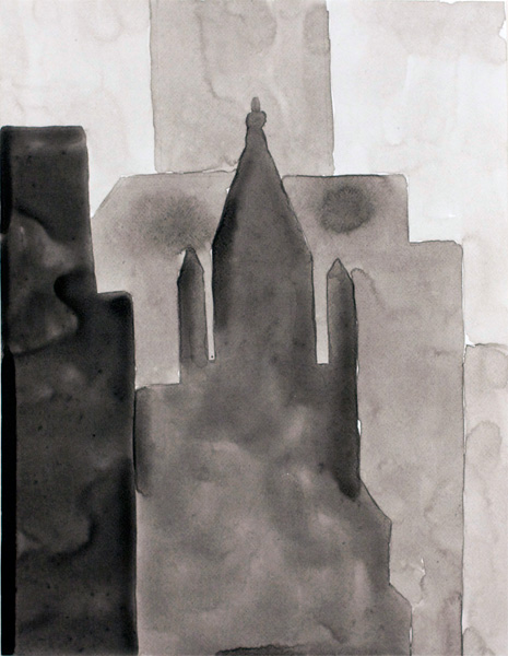 NYC #553 , 2011 acrylic on paper 11 x 9 inches