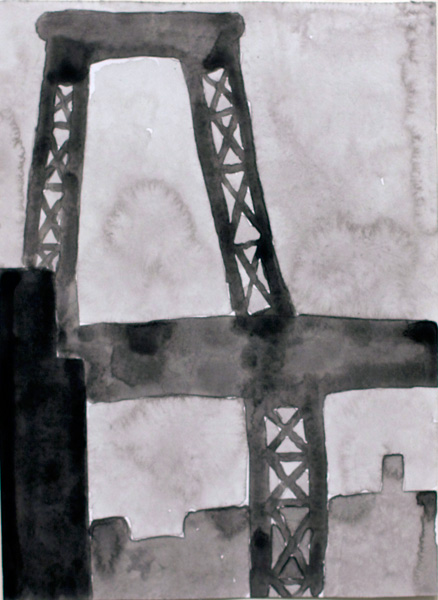 NYC #479 , 2011 acrylic on paper 10 ½ x 8 inches