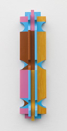 """tacubaya , 2015 acrylic on wood 13 x 3 ¼ x 2 ¼"""""""
