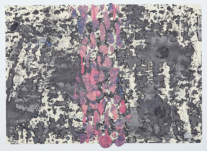 civitella drawing 6 , 2013 acrylic and ink on paper 8 1/4 x 11 1/2 inches
