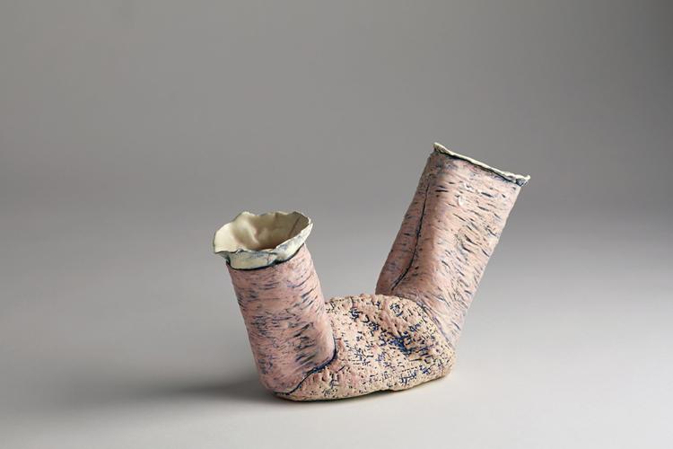 pink dyad 2 , 2014 glazed ceramic 8 x 13 x 4 inches