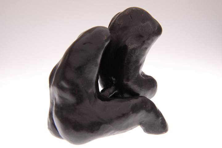 """couple, 2009 cast bronze filled with lead  4 x 3 1/2 x 2 1/4"""""""