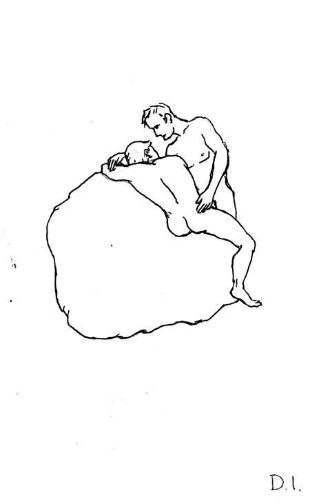 """boulder, 2009 ink on paper 5 5/8 x 3 3/4 """""""