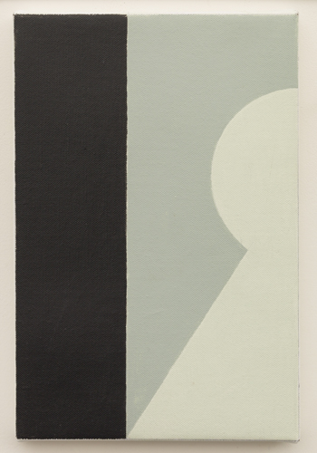 Untitled (LK16.003), 2013 acrylic on canvas 11 3/4 x 7 7/8 inches