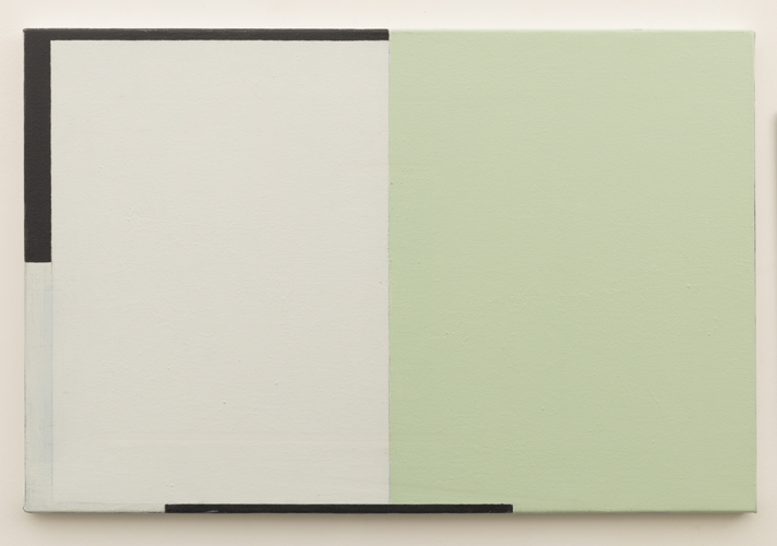 Untitled  (LK16.024), 2014 acrylic on canvas 15 3/4 x 23 3/4 inches
