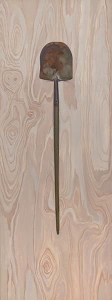 shovel , 2013 oil on linen 80 x 30 inches