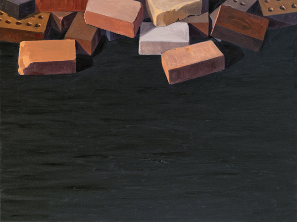 bricks , 2013 oil on linen 36 x 48 inches