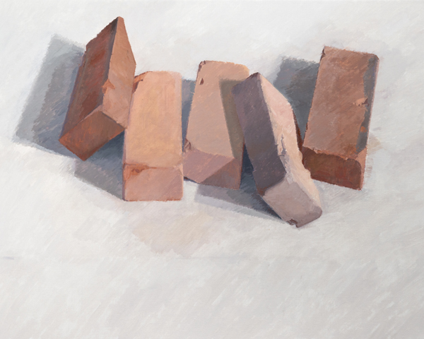 five bricks , 2013 oil on linen 24 x 30 inches