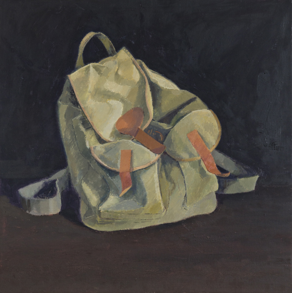 rucksack , 2013 oil on linen 24 x 24 inches