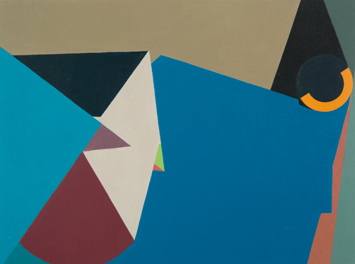 Outsourcing Picabia , 2011 acrylic and oil on canvas and wood 18 x 24 inches