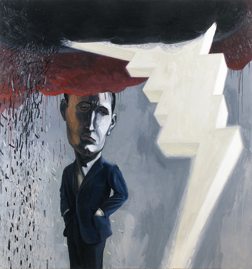 Dark Cloud , 2012 68 x 64 inches  oil paint and medium