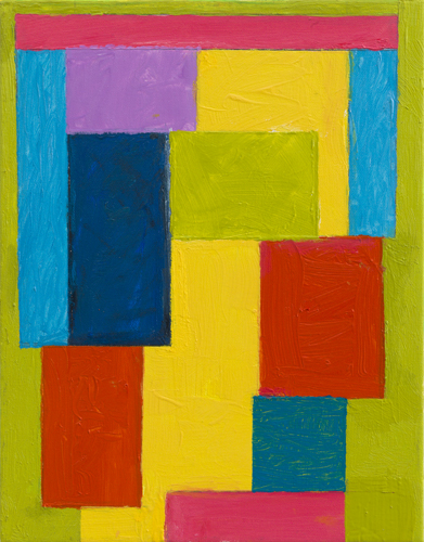"""stepstacking ,2015 oil on canvas 14 x 11"""""""