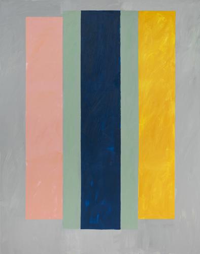 "three painters ,2014 oil on canvas 77 x 61"""