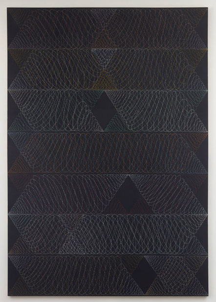 Untitled (pdn86) , 1971 acrylic and graphite on canvas 108 x 76""