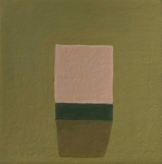 pink box, brown wall , 2007 oil on canvas 8 x 8 inches