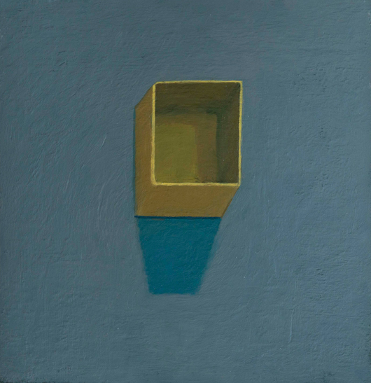green box, blue wall , 2007 oil on canvas 8 x 8 inches