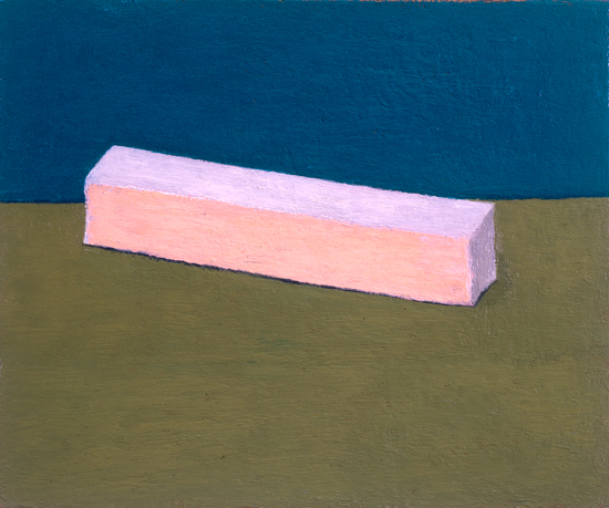 long rectangular box , 2001 oil on canvas 14 x 17 inches