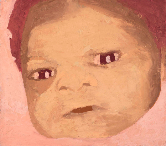 missing baby , 1995 oil on linen 14 x 16 inches