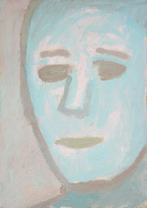 anonymity , 1992 oil on canvas 20 x 14 inches