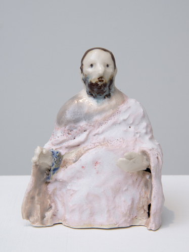 matthew (after orcagna) , 2014 glazed porcelain 3.5 x 3 x 2.5""
