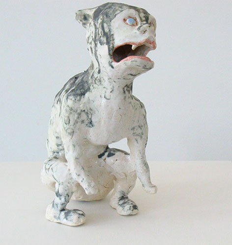 dog demon , 2009 stoneware 10 x 7 x 5 inches