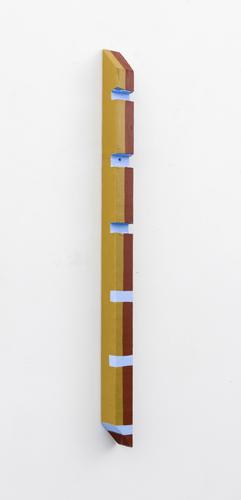 "notched , 2013 acrylic on wood 25 x 1.5 x 1.5"""