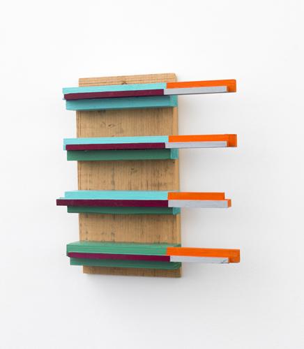 "out on a limb , 2013 acrylic on wood 11.5 x 6 x 3"""