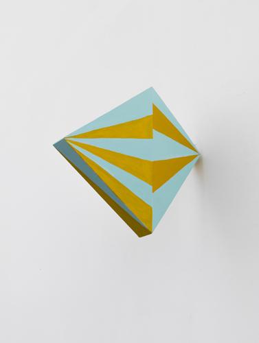 """aero,  2012 acrylic on wood 9.5 x 1.5 x 11.5"""""""