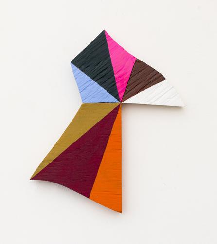 """Tweedle, 2013 acrylic on wood 10.5 x 9.5 x 1"""""""